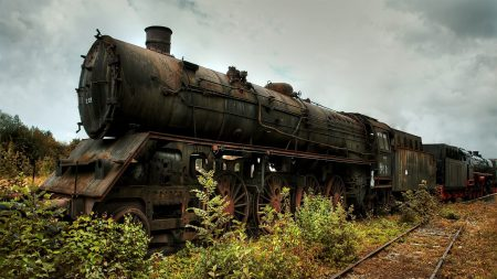 locomotive, old, railway