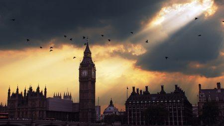 london, big ben, sunset