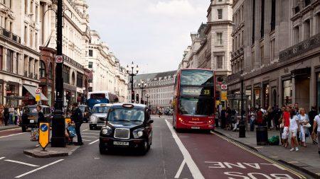 london, street, traffic