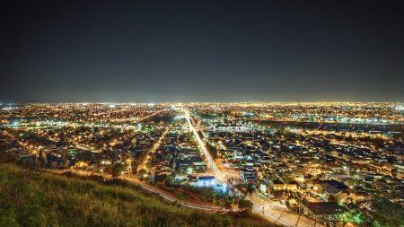 los angeles, california, night