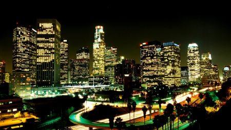 los angeles, city, night