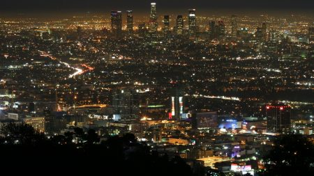 los angeles, night, view