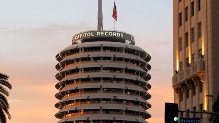 los angeles, vine street, capitol records tower