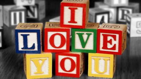 love, cube, colorful