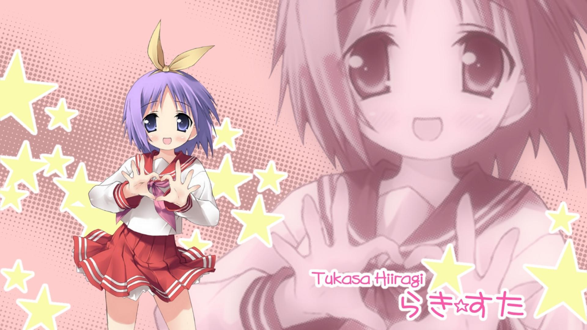 lucky star, hiiragi tsukasa, girl