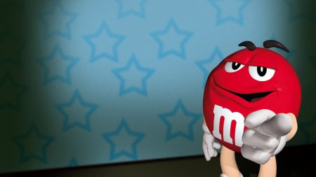 m ms, red, character