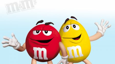 m ms, red, yellow