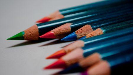 macro, pencils, bar