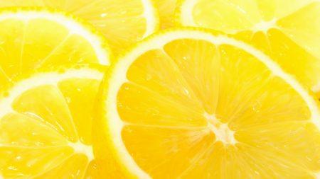 macro, yellow, lemon
