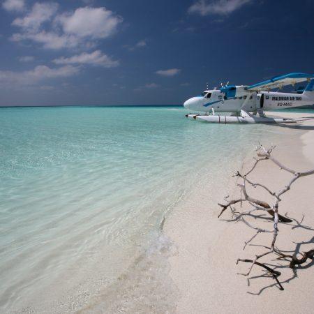 maldives, plane, coast