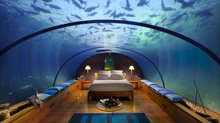 maldives, tropical, underwater hotel