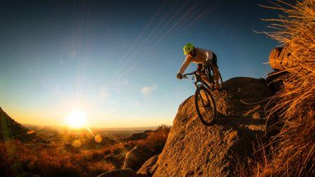 man, mountain bike, cyclist