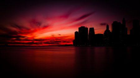 manhattan, new york, night