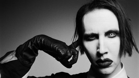 marilyn manson, face, makeup