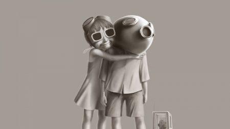 mask, hugging, couple