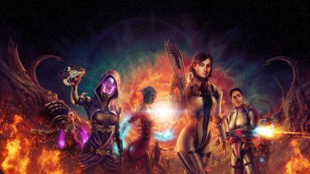 mass effect 3, characters, fan art
