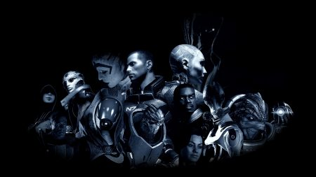 mass effect, characters, faces