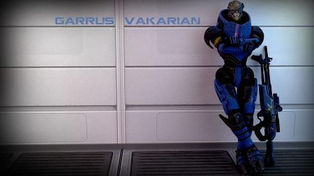 mass effect, garrus vakarian, wall