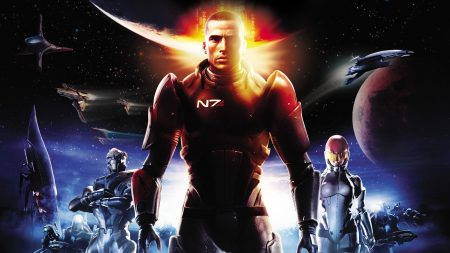 mass effect, shepard, space