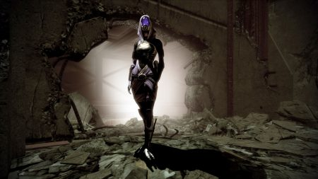 mass effect, tali zorah, wall