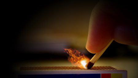 matches, fingers, hand
