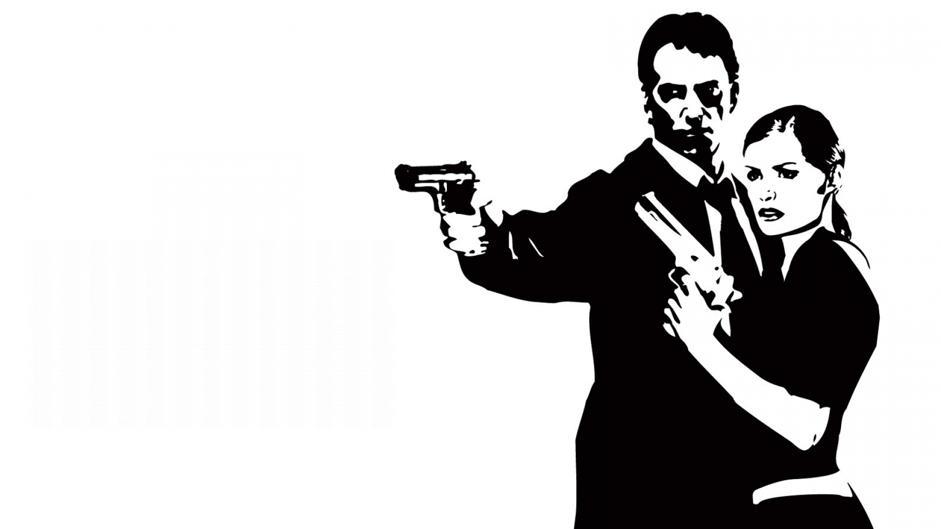 Download Wallpaper 1920x1080 Max Payne Female Pistols Look