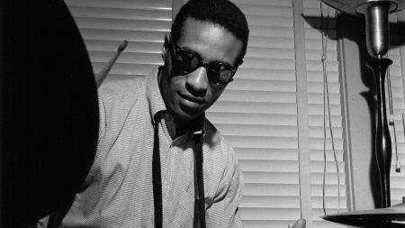 max roach, drum, glasses