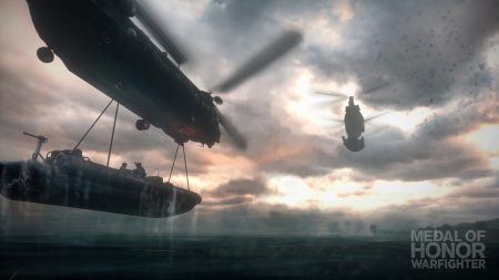 medal of honor warfighter, helicopter, boat
