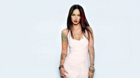 megan fox, brunette, tattoo