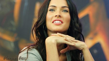 megan fox, smile, look