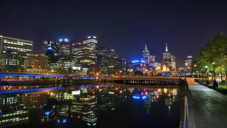 melbourne, australia, night