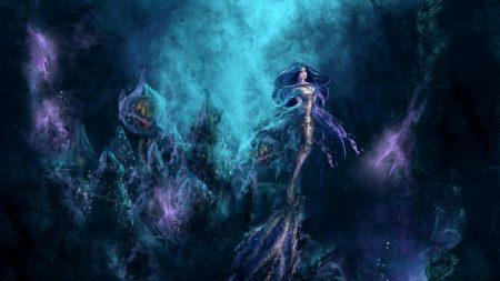 mermaid, underwater, water