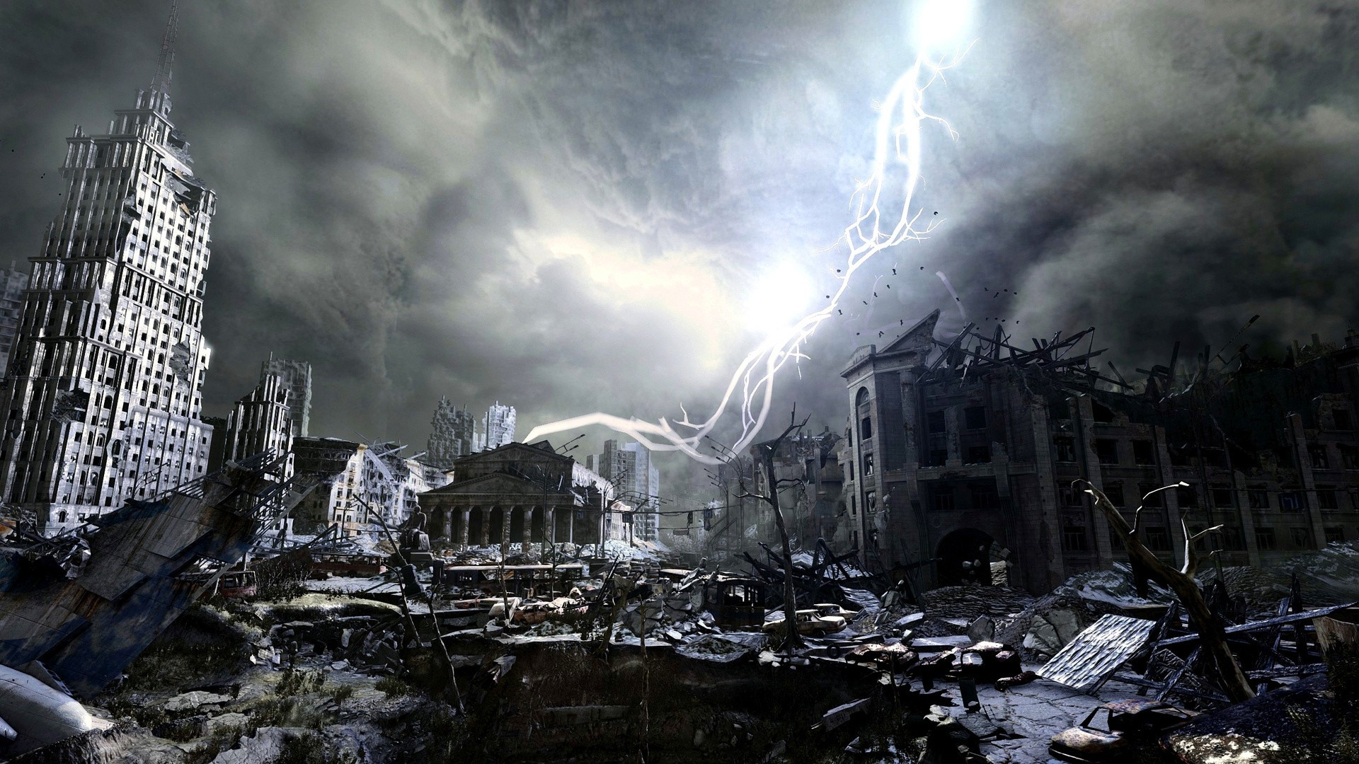Download Wallpaper 1920x1080 Metro Last Light Apocalypse City