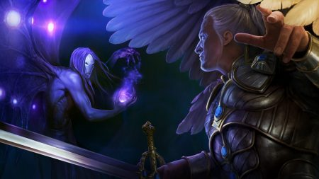 might and magic heroes, sword, wings