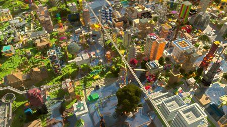 minecraft, city, houses