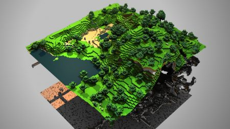 minecraft, ground, trees