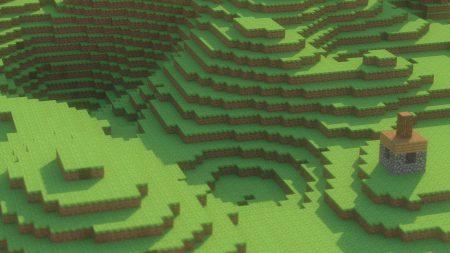 minecraft, mountain, house