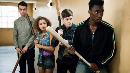 misfits, actors, baseball bat