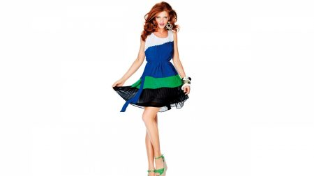model, girl, dress