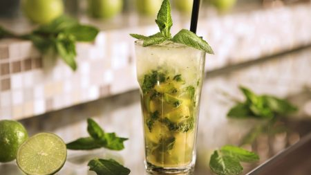 mojito, cocktail, ice refreshing