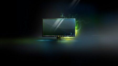 monitor, black, yellow