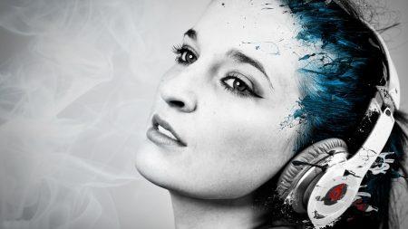 monster beats, headphones, girl