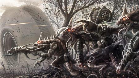 monsters, robots, battle