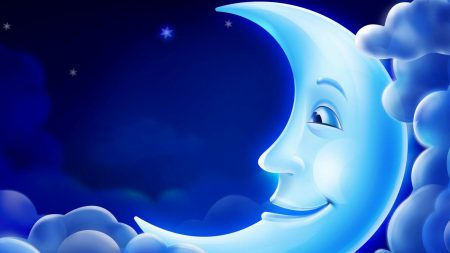 moon, clouds, sky