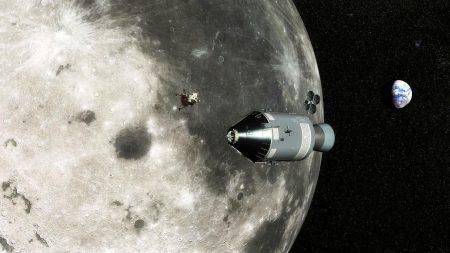 moon, earth, command module apollo