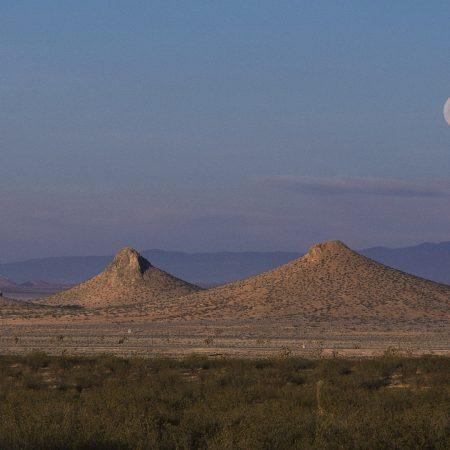 moon, sky, desert