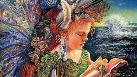 morskaya fairy, shell, mermaid