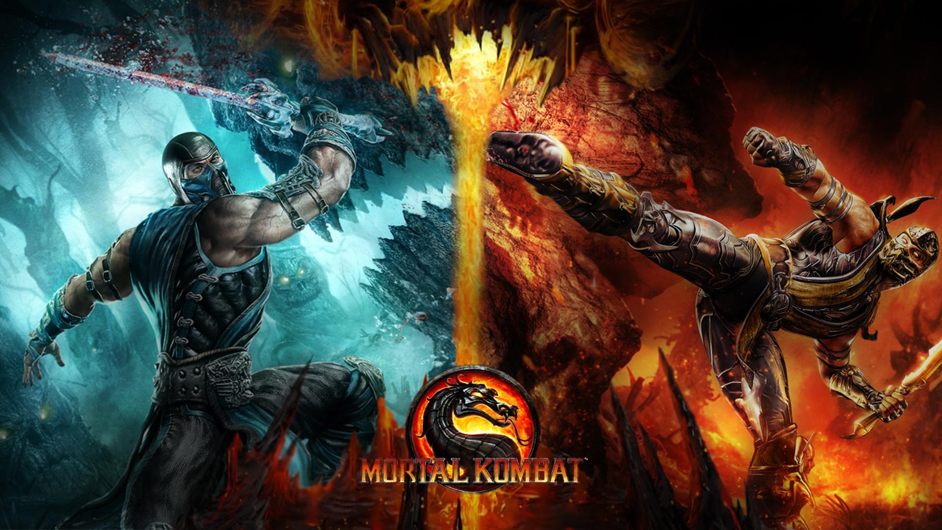 Download Wallpaper 1920x1080 Mortal Kombat Cold Fire Dragon