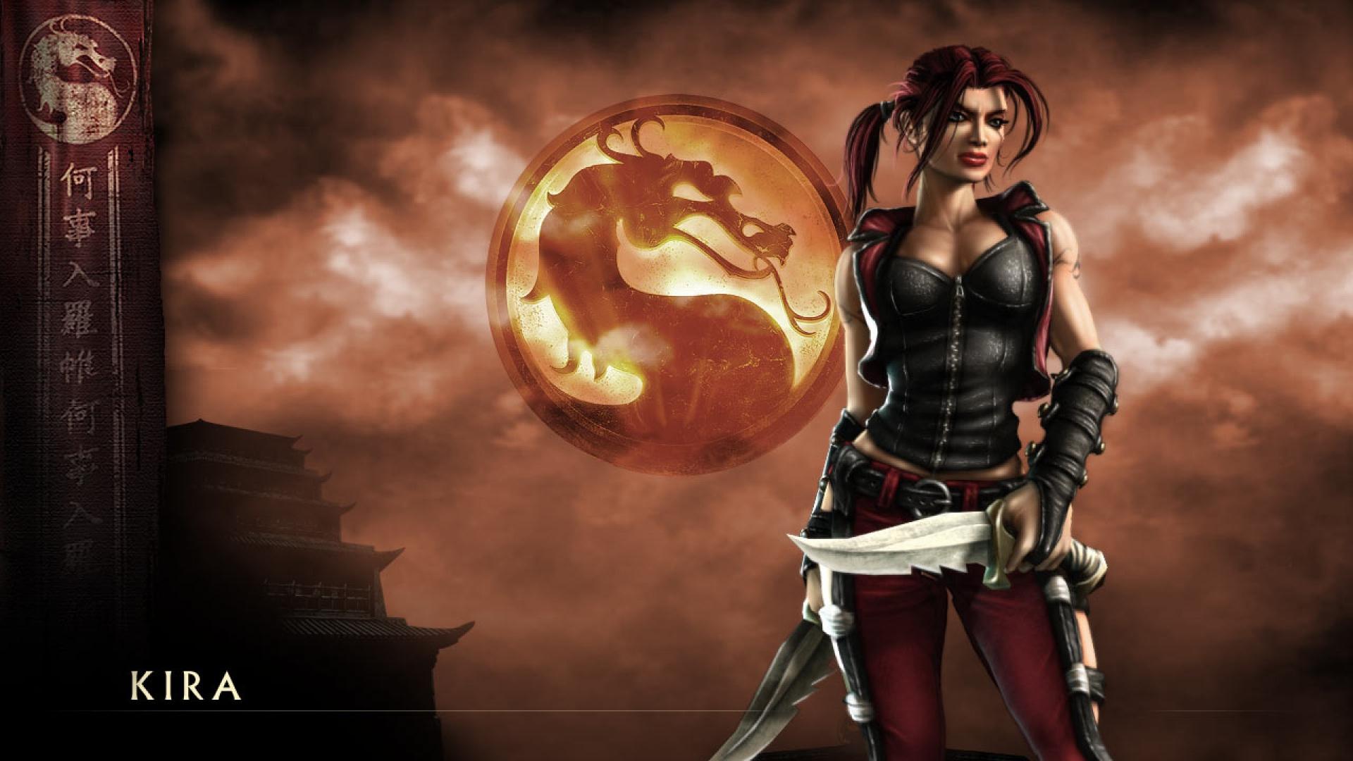 Full Contact Combat Sport >> Download Wallpaper 1920x1080 mortal kombat deception, kira, girl, dragon, knifes Full HD 1080p ...