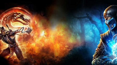 mortal kombat, magic, dragon